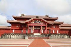 冲绳岛- 10月8日:首里城堡在冲绳岛, 2016年10月8日的日本 库存图片