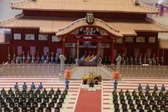冲绳岛- 10月8日:首里城堡在冲绳岛, 2016年10月8日的日本 库存照片