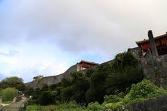 冲绳岛- 10月8日:首里城堡在冲绳岛, 2016年10月8日的日本 免版税库存图片