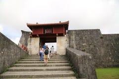 冲绳岛- 10月8日:首里城堡在冲绳岛, 2016年10月8日的日本 免版税图库摄影