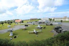 冲绳岛- 10月8日:JASDF那霸空军基地-军事基地在冲绳岛, 2016年10月8日的日本 免版税图库摄影