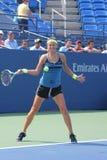 全垒打冠军维多利亚Azarenka为美国公开赛实践在比利吉恩National Tennis Cente国王 免版税库存图片