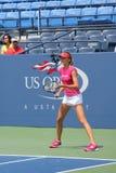 职业网球球员美国公开赛的达尼埃拉Hantuchova实践 库存图片