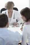 决定关于出现IVF婴孩 免版税库存图片