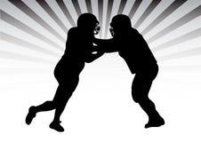 决斗橄榄球 免版税库存照片