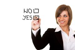 决策正 免版税库存照片