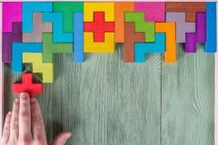 决策过程,逻辑思维的概念 逻辑任务 免版税库存图片