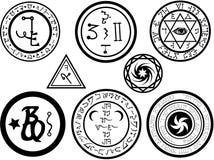 冶金magickal sigils符号 库存例证