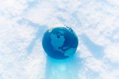 冷全球 库存图片