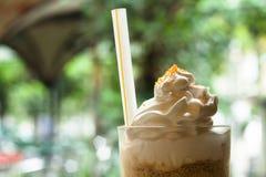 冷冻或冰冻咖啡 免版税库存图片