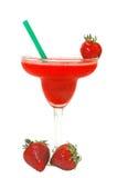 冷冻果子玛格丽塔酒草莓 免版税库存照片