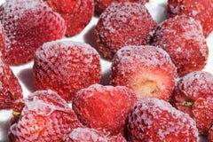 冷冻草莓 免版税库存图片