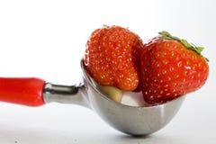 冷冻草莓 库存图片
