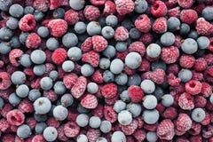 冷冻莓果顶视图 黑醋栗莓 免版税库存图片