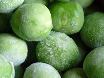 冷冻豌豆 库存照片