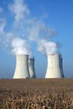 冷却四个核工厂次幂塔 库存照片