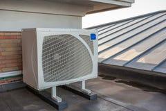 冷却在一个屋顶平台 图库摄影