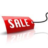 冷却标签销售额 免版税库存图片