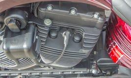 冷却系统摩托车引擎 免版税库存照片