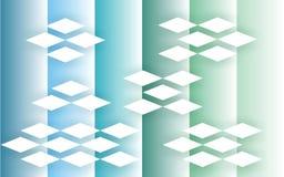 冷却,分级与3D商标作用的MULTICOLORFULL垂直条纹 向量例证