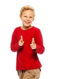 冷却11岁男孩 免版税图库摄影