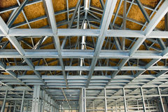 冷建筑被形成的构成的站点钢 免版税图库摄影