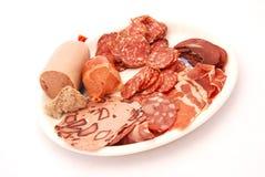 冷德国肉盛肉盘 库存照片