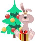 冷杉兔子结构树 免版税库存照片