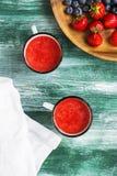 冷汤草莓 库存图片