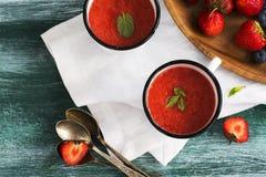 冷汤草莓 免版税库存图片