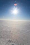 冷沙漠冰 库存图片