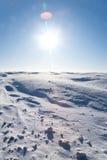 冷沙漠冰 免版税库存照片