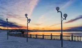 冷淡的冬天在北极地区 免版税库存图片