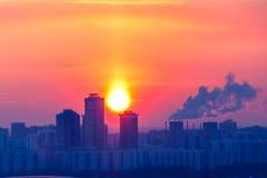 冷淡的晚上在莫斯科, 免版税库存照片