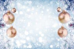 冷淡的杉树圣诞节装饰 免版税库存照片