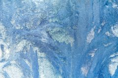 冷淡的模式视窗 背景美丽自然 背景能例证主题使用的冬天 特写镜头 皇族释放例证