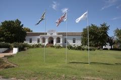 冷淡的议院外部Tulbach南非 免版税库存照片