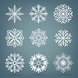 冷淡的雪集合 皇族释放例证