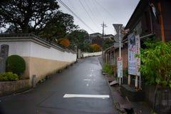 冷清的街道在日本 免版税库存照片