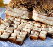 冷熏制的猪肉油脂 免版税图库摄影