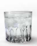 冷玻璃杯冰水 库存照片