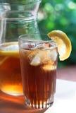 冷玻璃杯冰茶 库存图片