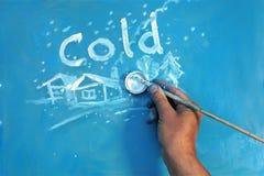 冷的冬天图画 免版税库存图片