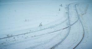 冷的冬天都市风景在乌克兰 库存图片
