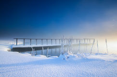冷的冬日在冰岛 免版税图库摄影