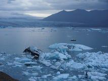 冷的冰岛! 库存照片