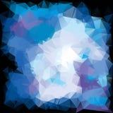 冷的多角形背景 免版税库存照片