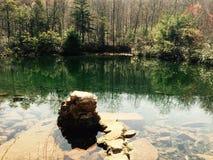 冷的春天池塘 图库摄影