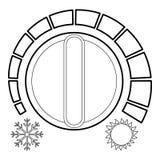 冷的热调节器象,概述样式 库存例证