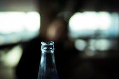 冷的瓶上面 免版税库存照片